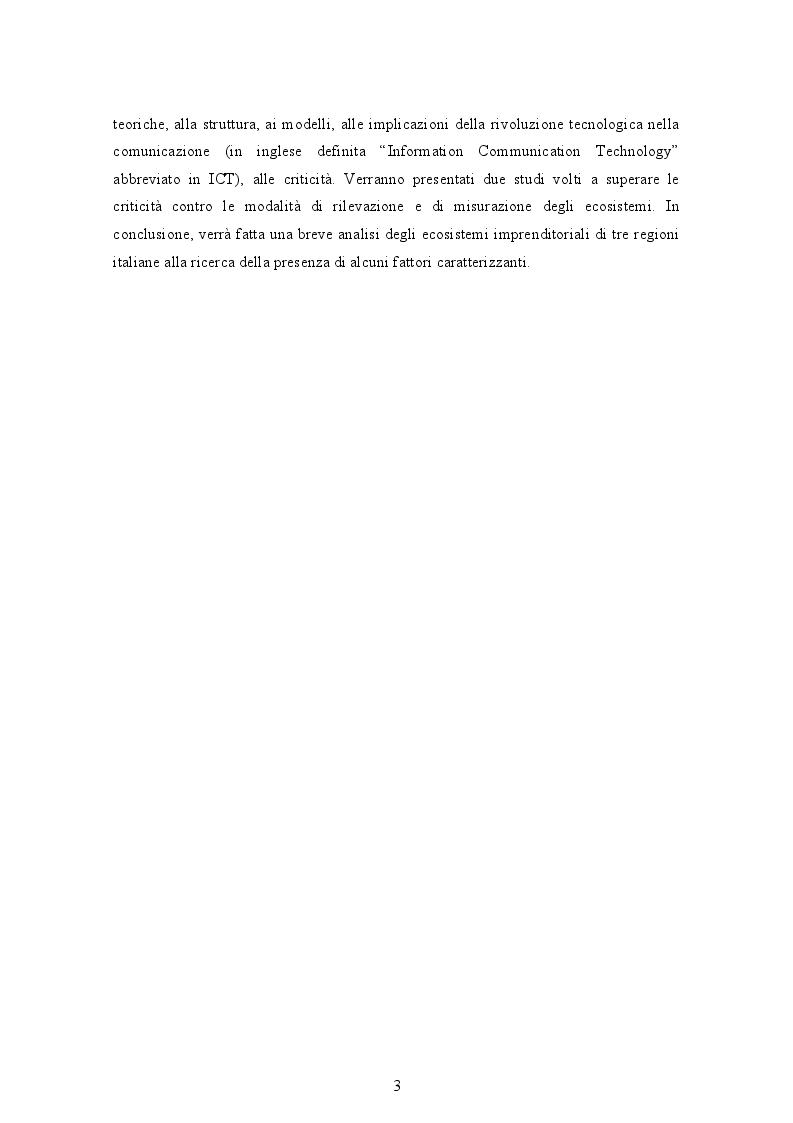 Anteprima della tesi: Gli ecosistemi imprenditoriali e una breve analisi di alcuni ecosistemi italiani, Pagina 3