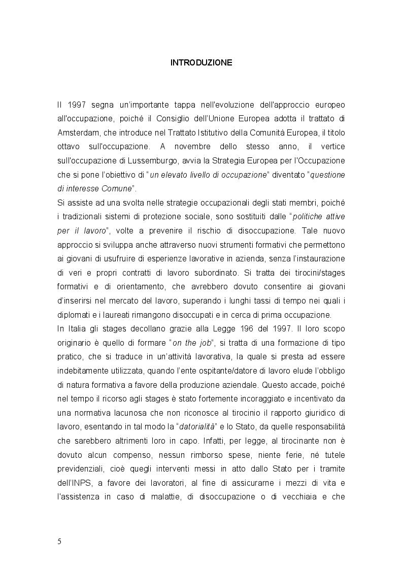 Anteprima della tesi: Stages ultima frontiera del precariato, Pagina 2