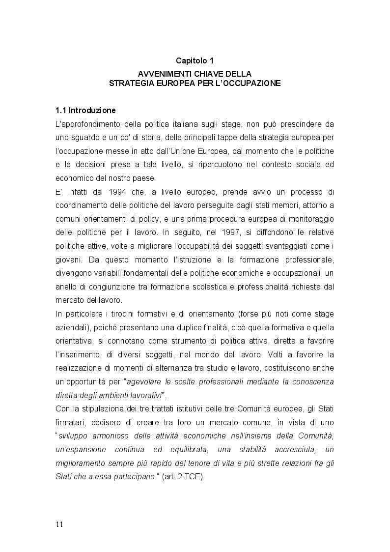 Anteprima della tesi: Stages ultima frontiera del precariato, Pagina 7