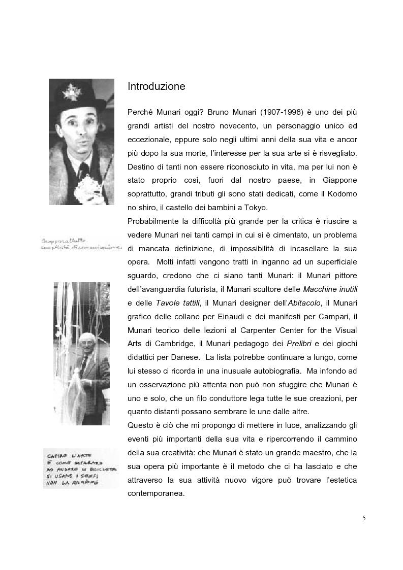Bruno Munari. L'estetica che si rimette in gioco - Tesi di Laurea