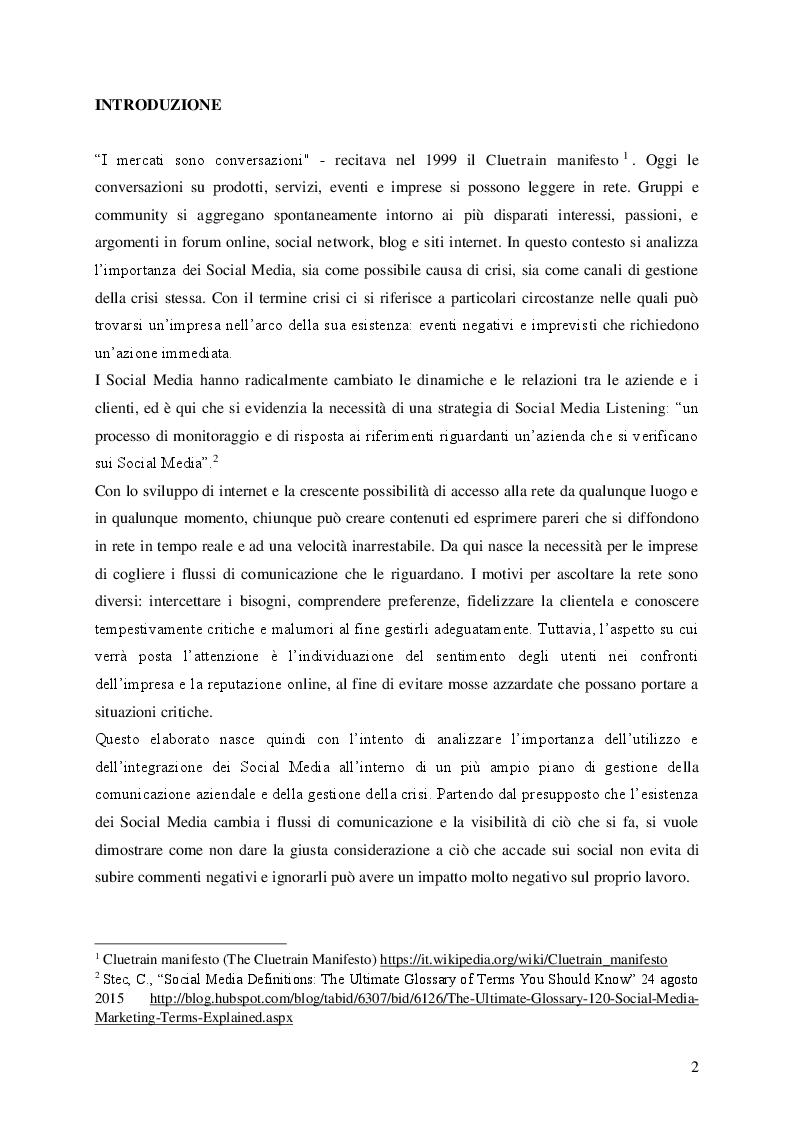 Anteprima della tesi: Social Media e Ascolto della Rete , Pagina 2