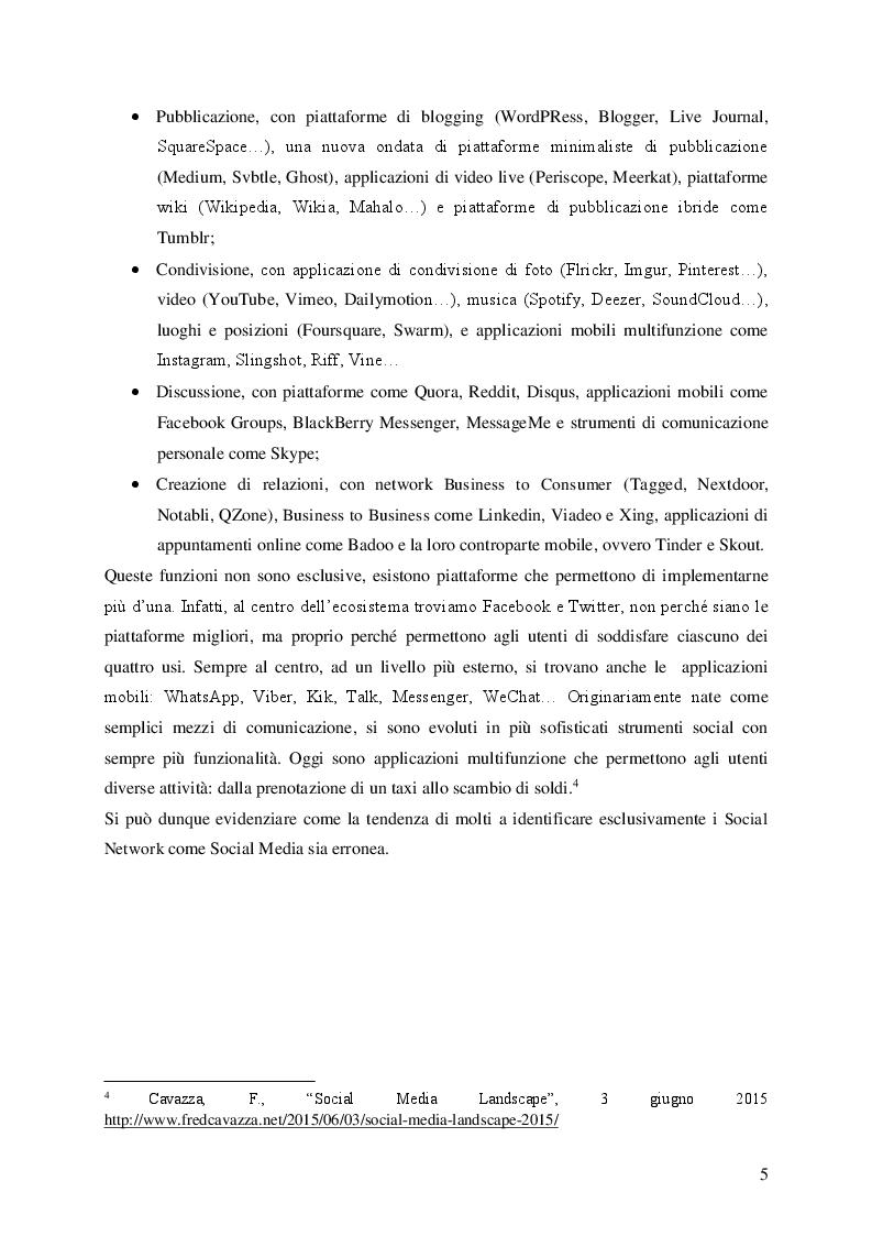 Anteprima della tesi: Social Media e Ascolto della Rete , Pagina 5