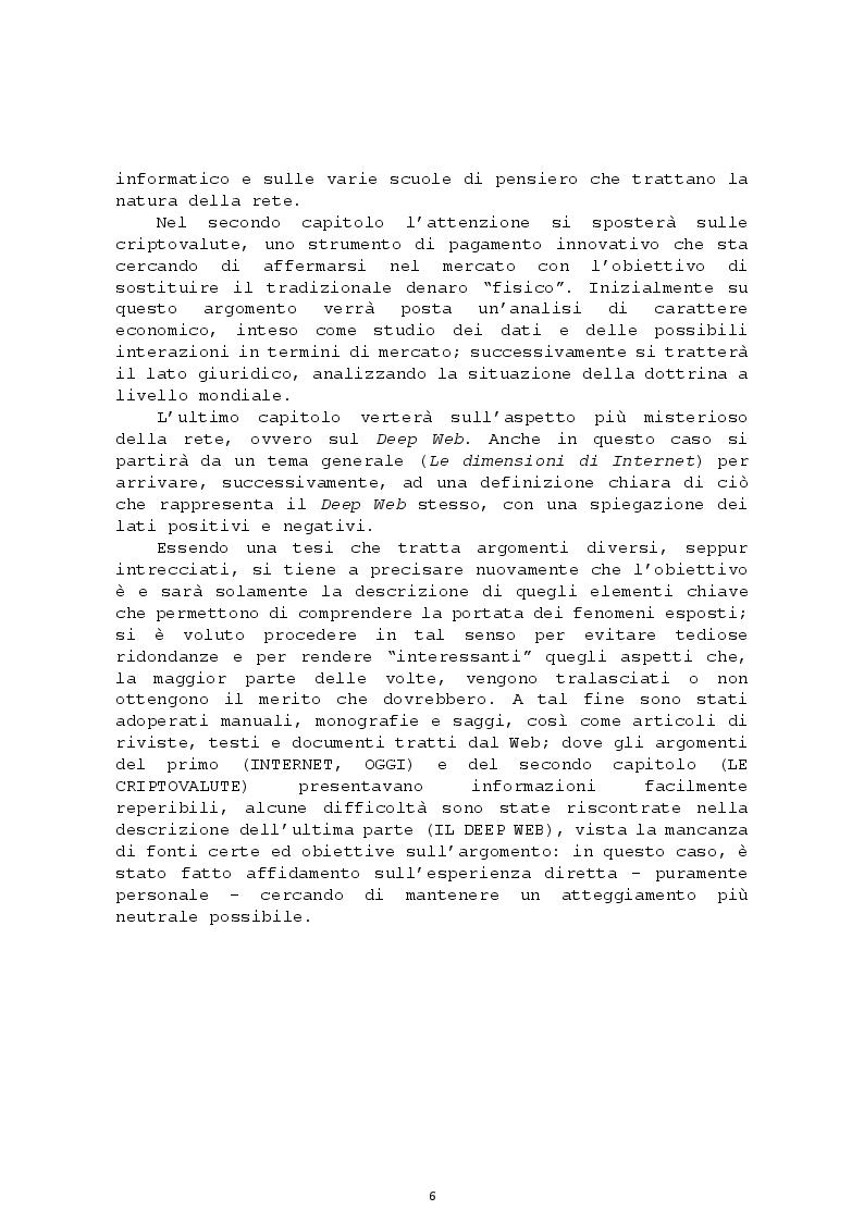 Anteprima della tesi: L'altra faccia della rete: le Criptovalute e il Deep Web, Pagina 3