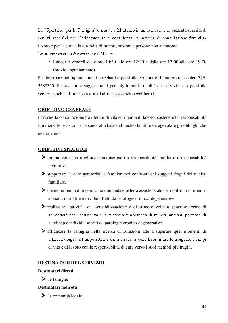 Anteprima della tesi: Dalla teoria alla prassi: progettazione, gestione e valutazione  dello sportello per la famiglia, Pagina 6