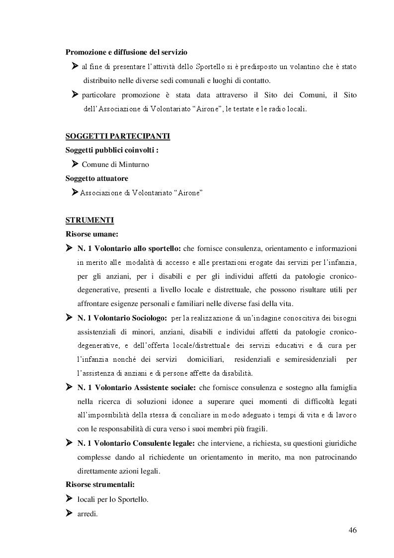 Anteprima della tesi: Dalla teoria alla prassi: progettazione, gestione e valutazione  dello sportello per la famiglia, Pagina 8