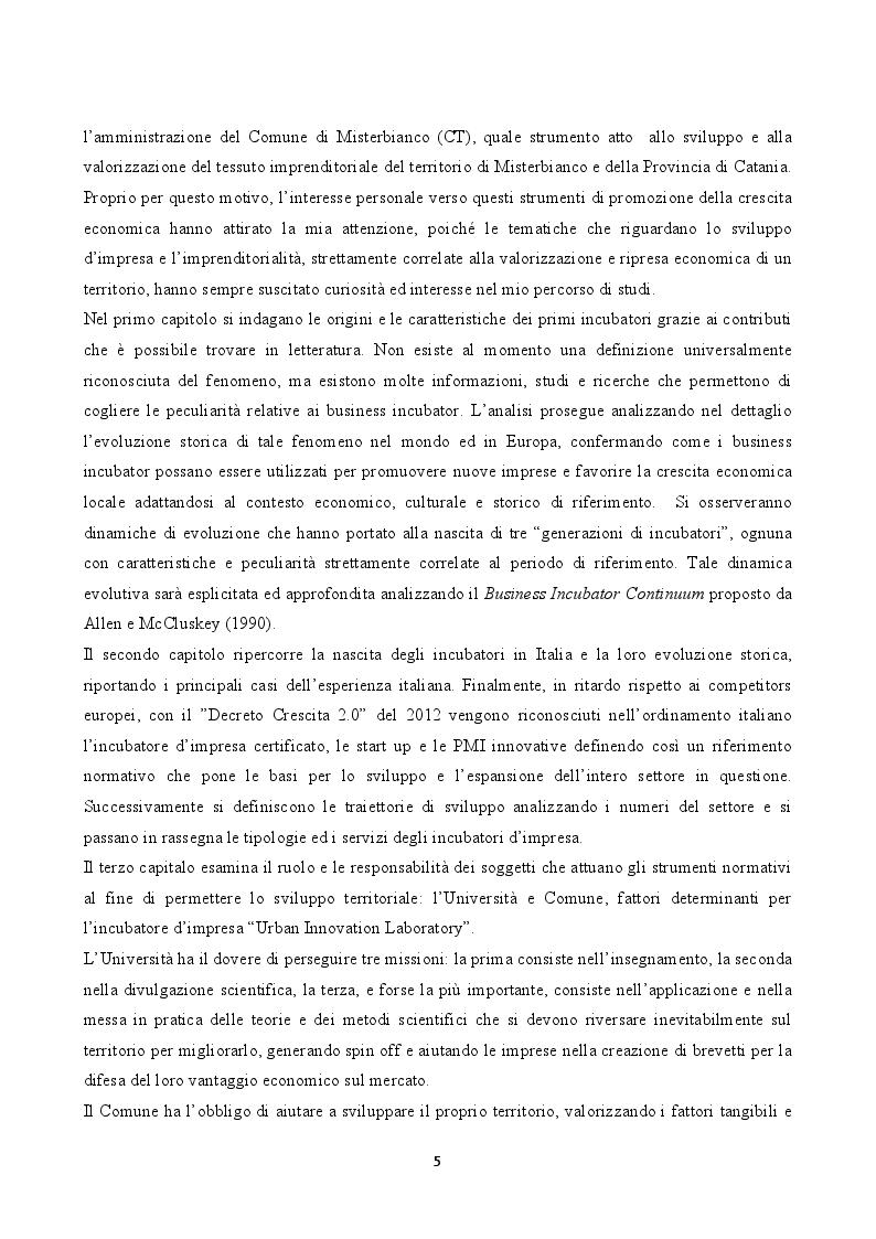 "Anteprima della tesi: L'incubatore d'impresa ""Urban Innovation Laboratory"", Pagina 3"