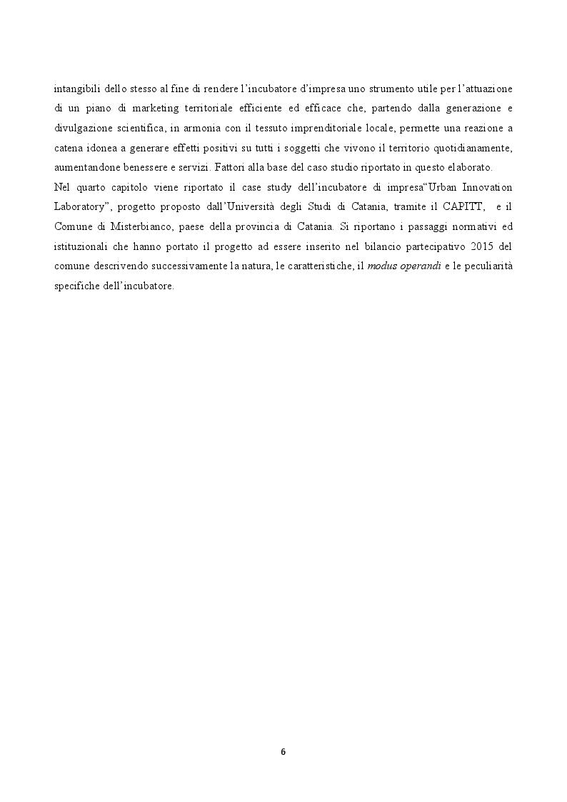 "Anteprima della tesi: L'incubatore d'impresa ""Urban Innovation Laboratory"", Pagina 4"