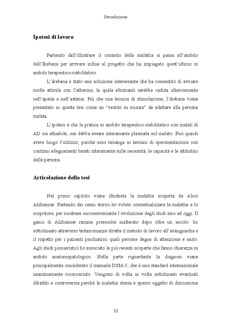 Anteprima della tesi: Malattia di Alzheimer e Ikebana. Studio sull'impiego dell'arte giapponese del disporre i fiori nell'attività di sostegno educativo alla persona malata., Pagina 5
