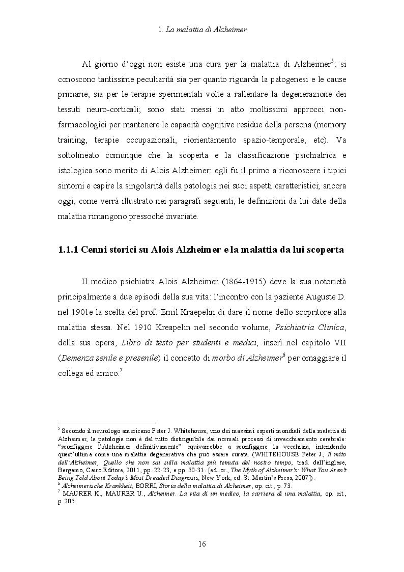 Anteprima della tesi: Malattia di Alzheimer e Ikebana. Studio sull'impiego dell'arte giapponese del disporre i fiori nell'attività di sostegno educativo alla persona malata., Pagina 9
