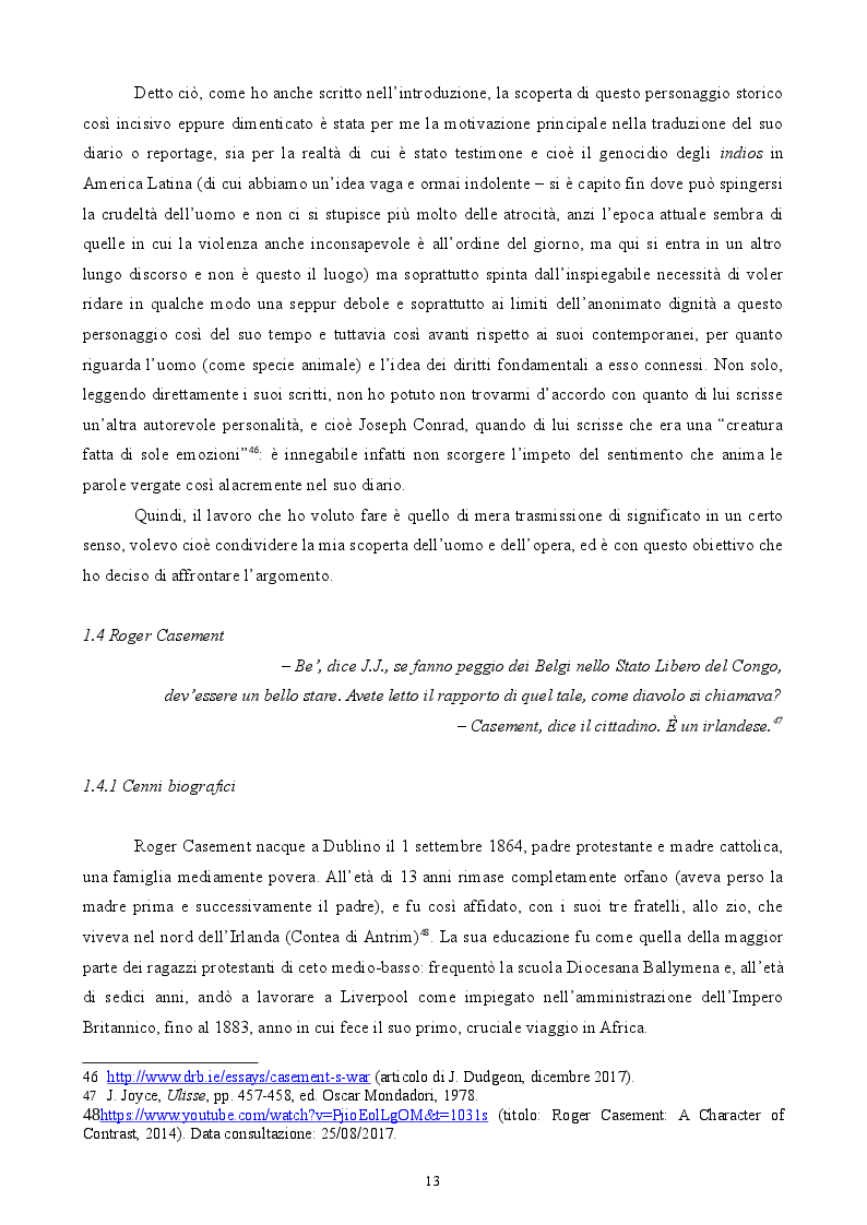 Anteprima della tesi: Roger Casement - The Amazon Journal, Pagina 9