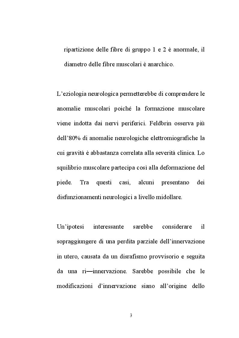 Anteprima della tesi: Il piede torto congenito: aspetti diagnostici e terapeutici, Pagina 6