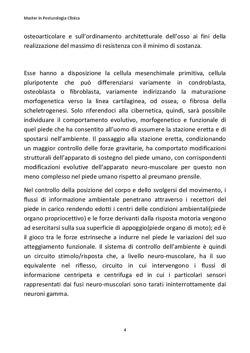 Anteprima della tesi: Importanza della posturologia in pediatria: dall'indagine posturale clinica/computerizzata alle solette di riprogrammazione posturale, Pagina 5
