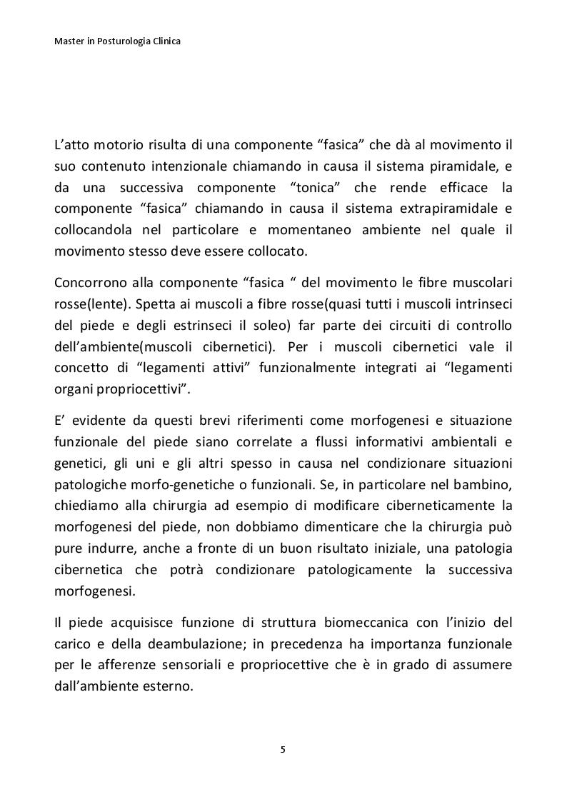 Anteprima della tesi: Importanza della posturologia in pediatria: dall'indagine posturale clinica/computerizzata alle solette di riprogrammazione posturale, Pagina 6