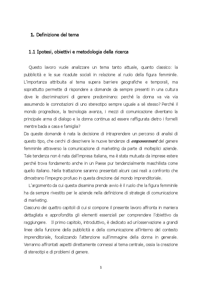 Anteprima della tesi: L'evoluzione della donna nella pubblicità: strategie di gender empowerment nel marketing, Pagina 2