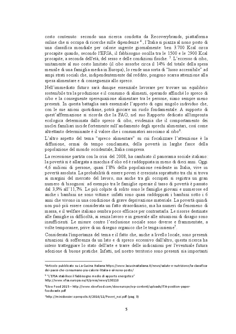 Anteprima della tesi: Recupero e redistribuzione sociale delle derrate alimentari: il caso del Centro Agroalimentare di Torino. Stato dell'arte e proposte di adozione di buone pratiche., Pagina 3