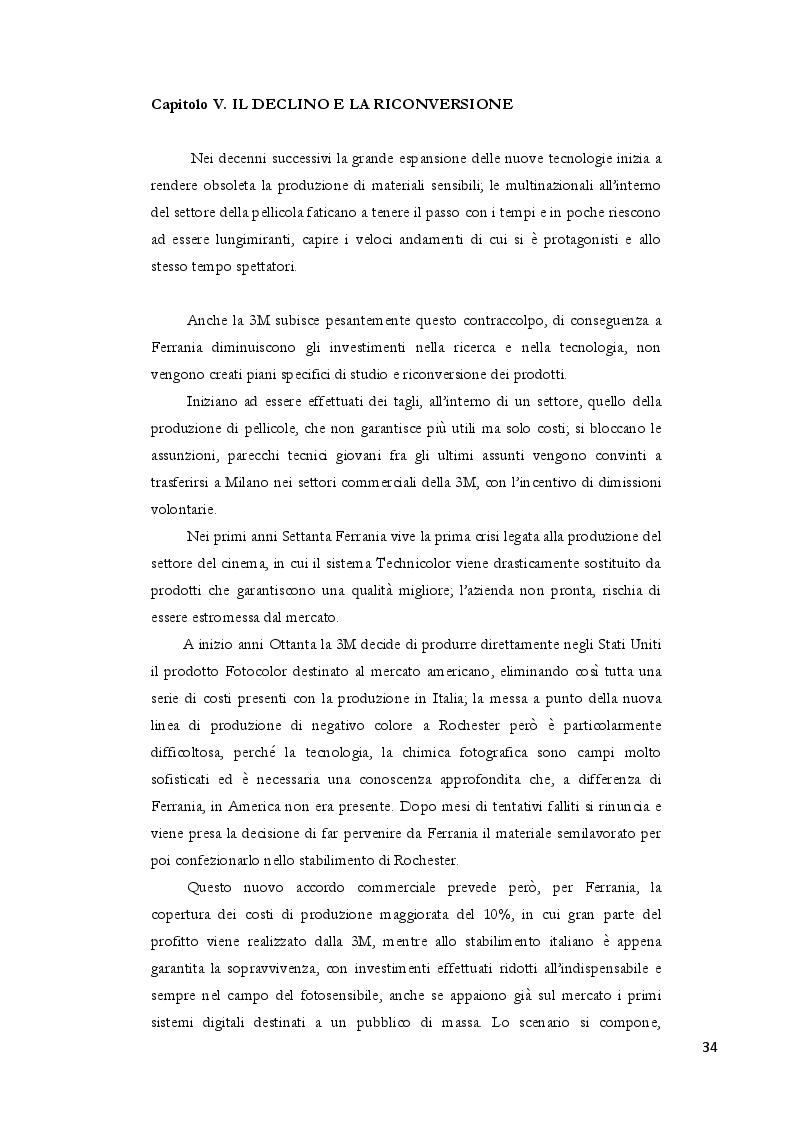 Estratto dalla tesi: Dalla polvere da sparo alla pellicola: nascita e futuro di Ferrania