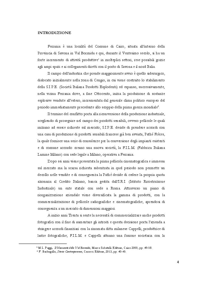Anteprima della tesi: Dalla polvere da sparo alla pellicola: nascita e futuro di Ferrania, Pagina 2