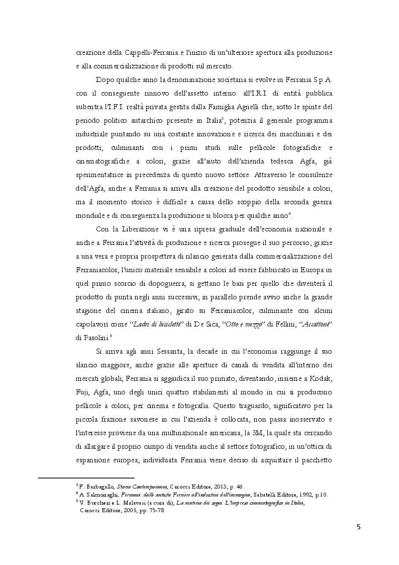 Anteprima della tesi: Dalla polvere da sparo alla pellicola: nascita e futuro di Ferrania, Pagina 3