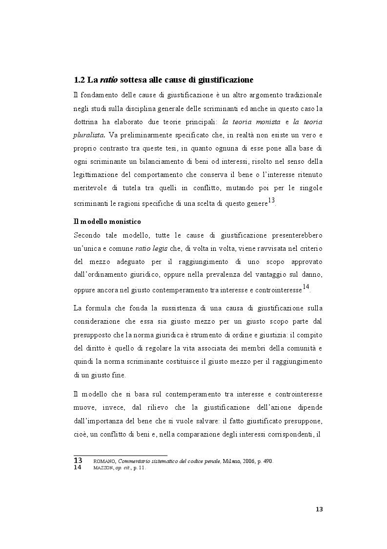Estratto dalla tesi: La legittima difesa: caratteristiche e limiti del diritto di autotutela