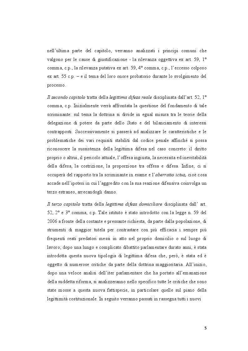 Anteprima della tesi: La legittima difesa: caratteristiche e limiti del diritto di autotutela , Pagina 3