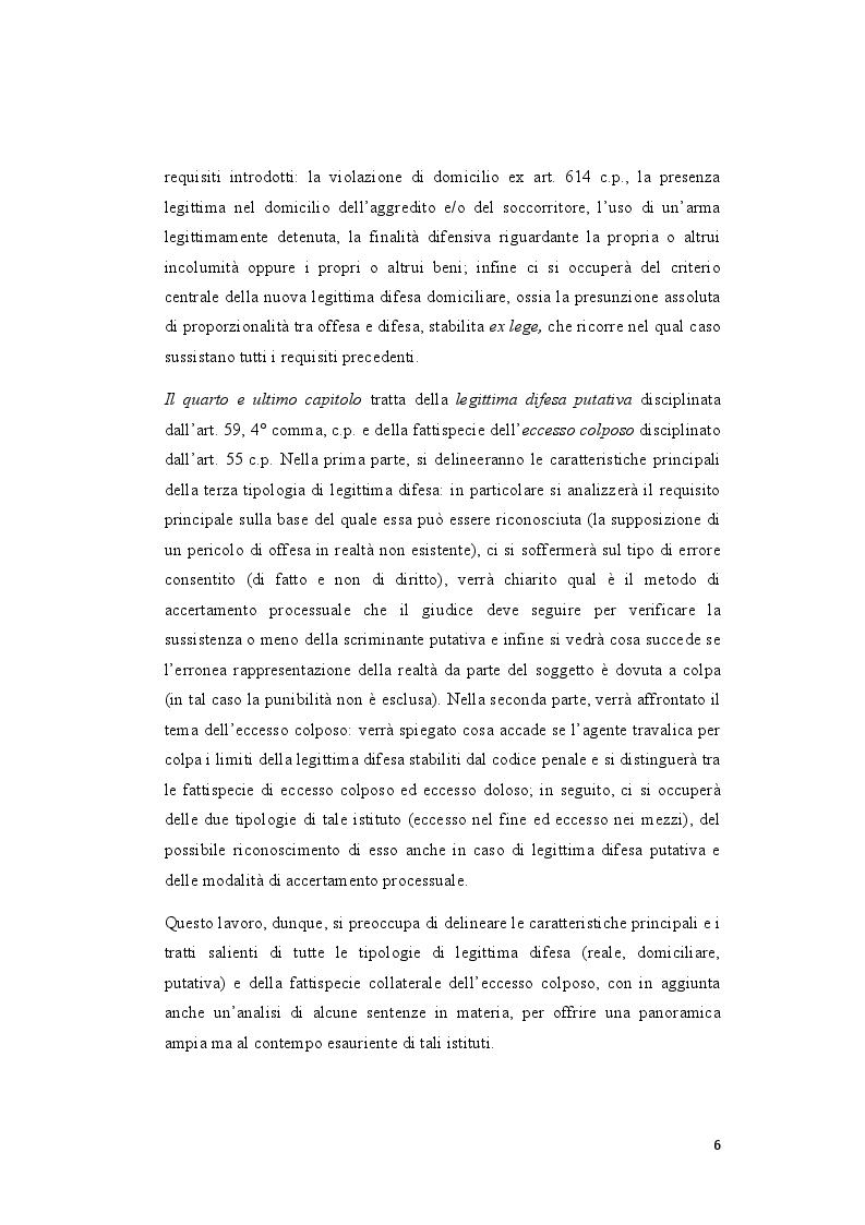Anteprima della tesi: La legittima difesa: caratteristiche e limiti del diritto di autotutela , Pagina 4