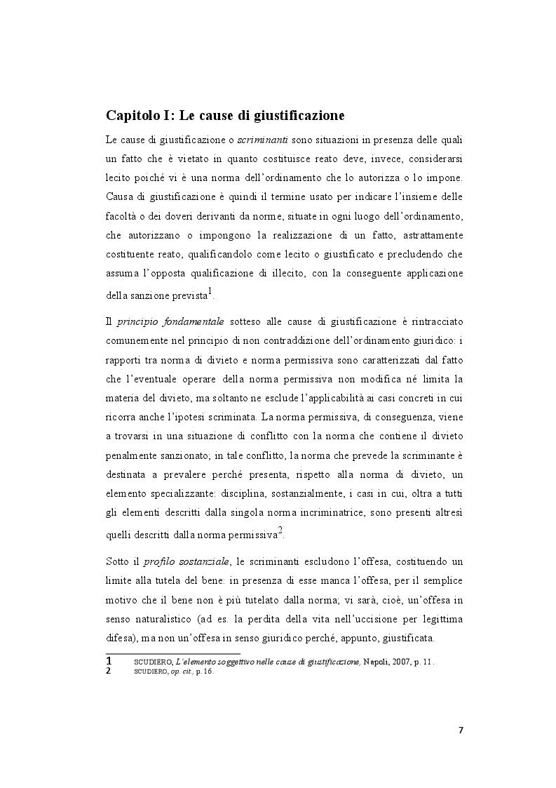 Anteprima della tesi: La legittima difesa: caratteristiche e limiti del diritto di autotutela , Pagina 5