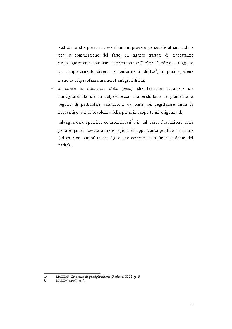 Anteprima della tesi: La legittima difesa: caratteristiche e limiti del diritto di autotutela , Pagina 7