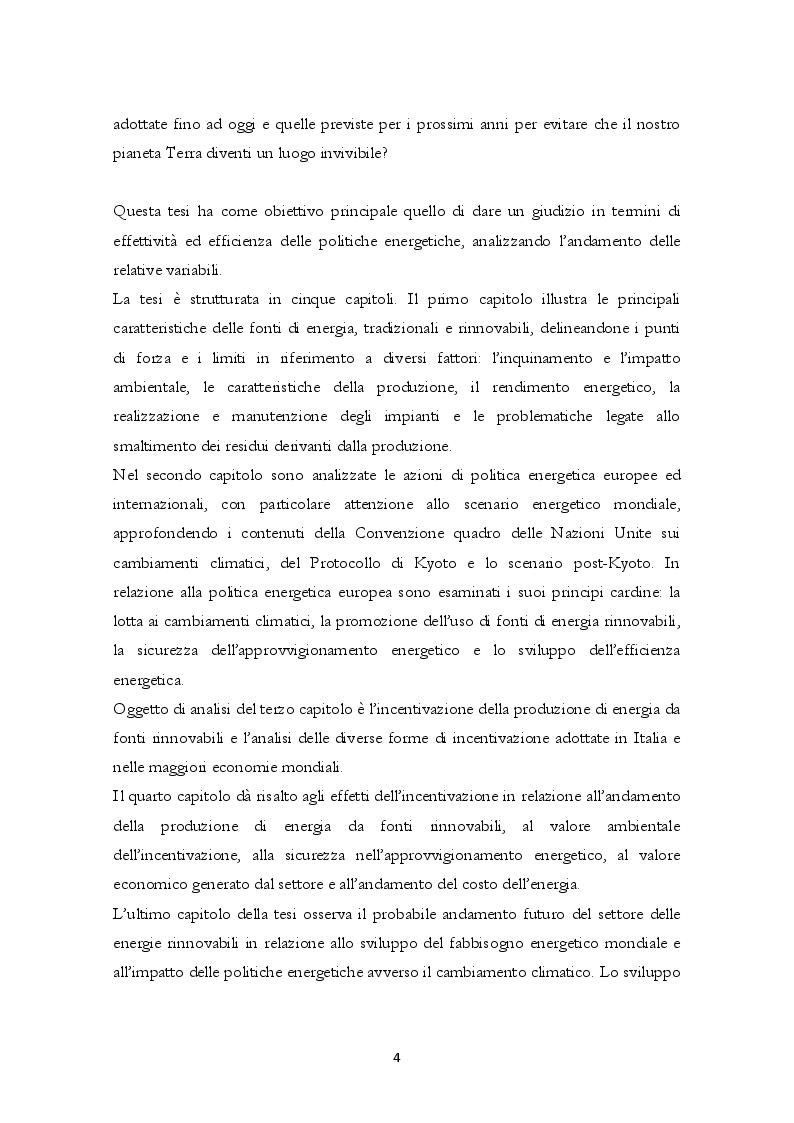 Anteprima della tesi: Energie Rinnovabili: politica energetica, effetti e prospettive, Pagina 3