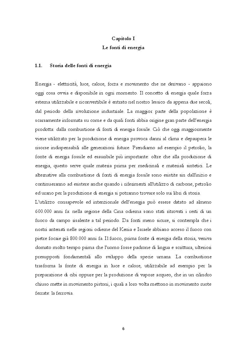 Anteprima della tesi: Energie Rinnovabili: politica energetica, effetti e prospettive, Pagina 5