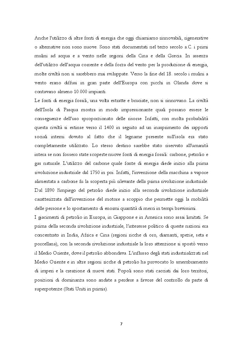 Anteprima della tesi: Energie Rinnovabili: politica energetica, effetti e prospettive, Pagina 6