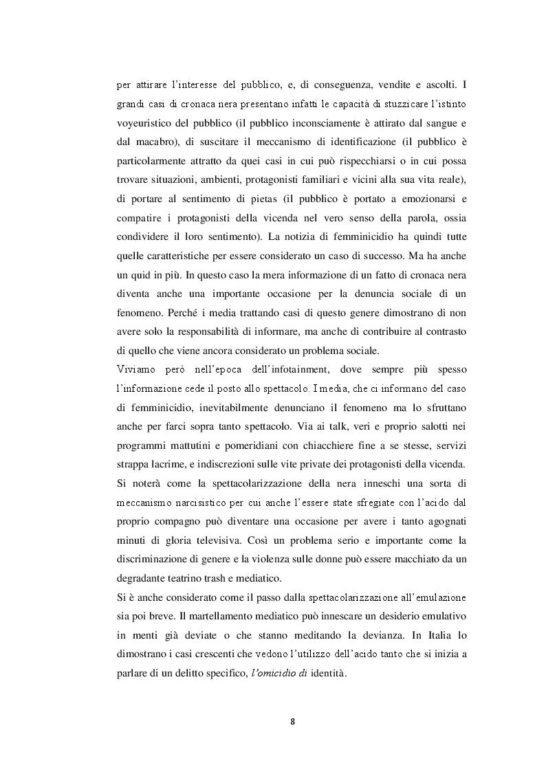 Anteprima della tesi: Il femminicidio in formato notizia, Pagina 4