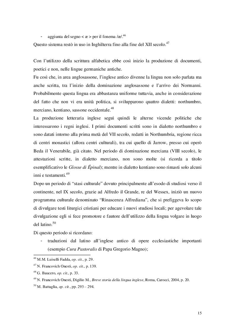 """Estratto dalla tesi: Cristianesimo e Cynewulf: analisi del lessico cristiano nell'opera """"Sant'Elena"""""""