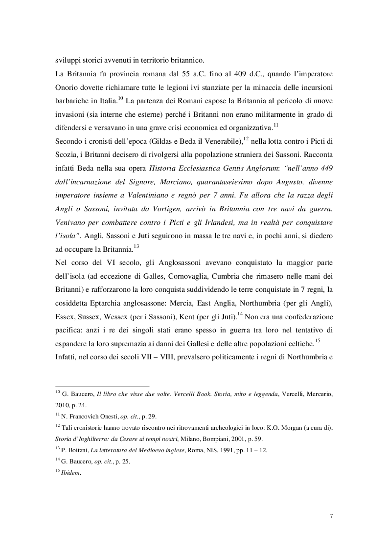 """Anteprima della tesi: Cristianesimo e Cynewulf: analisi del lessico cristiano nell'opera """"Sant'Elena"""", Pagina 5"""