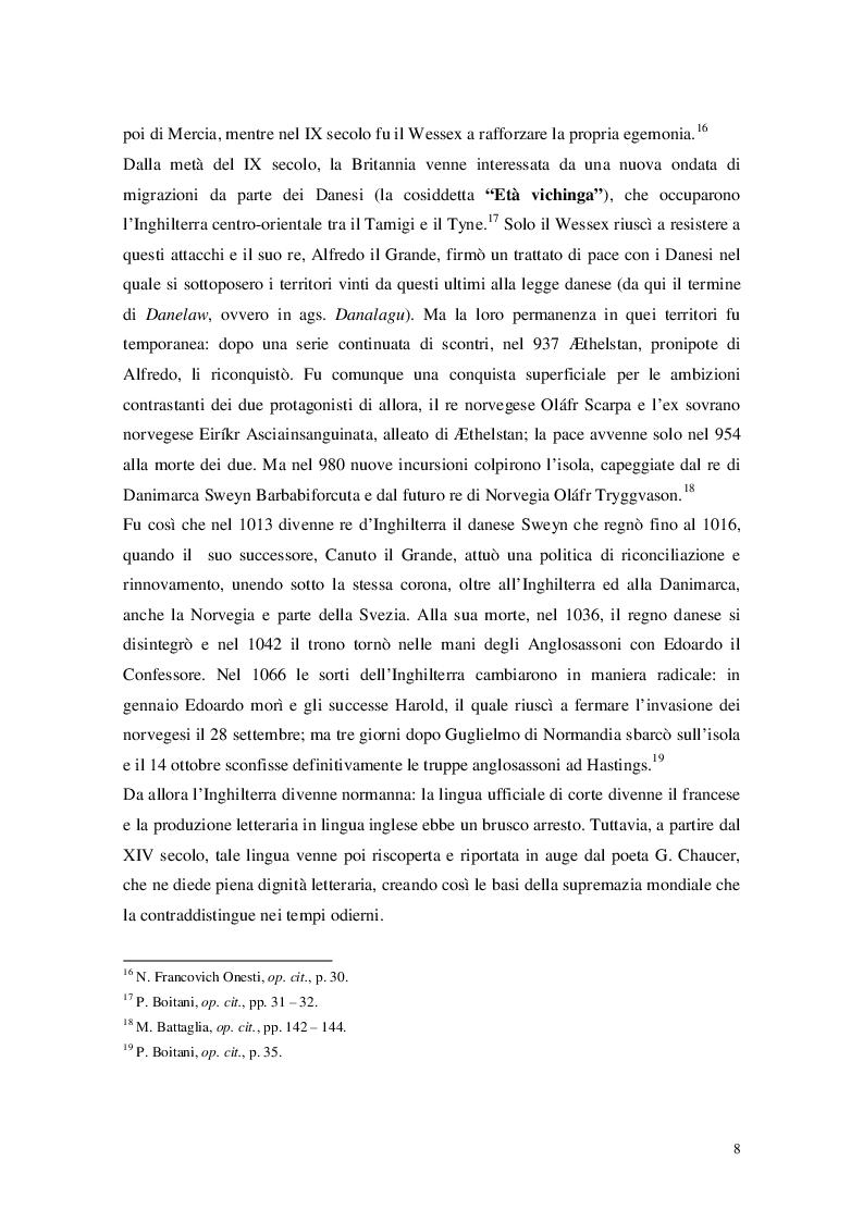 """Anteprima della tesi: Cristianesimo e Cynewulf: analisi del lessico cristiano nell'opera """"Sant'Elena"""", Pagina 6"""