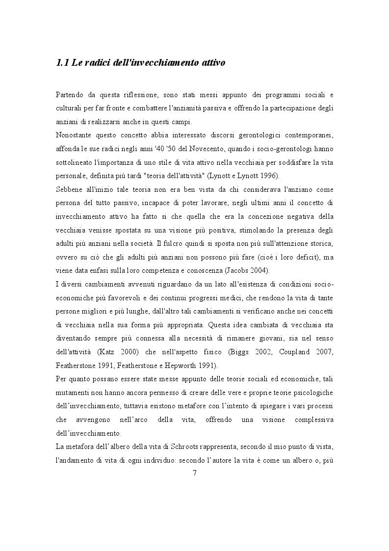 Anteprima della tesi: L'Invecchiamento: un percorso attivo nel volontariato, Pagina 2