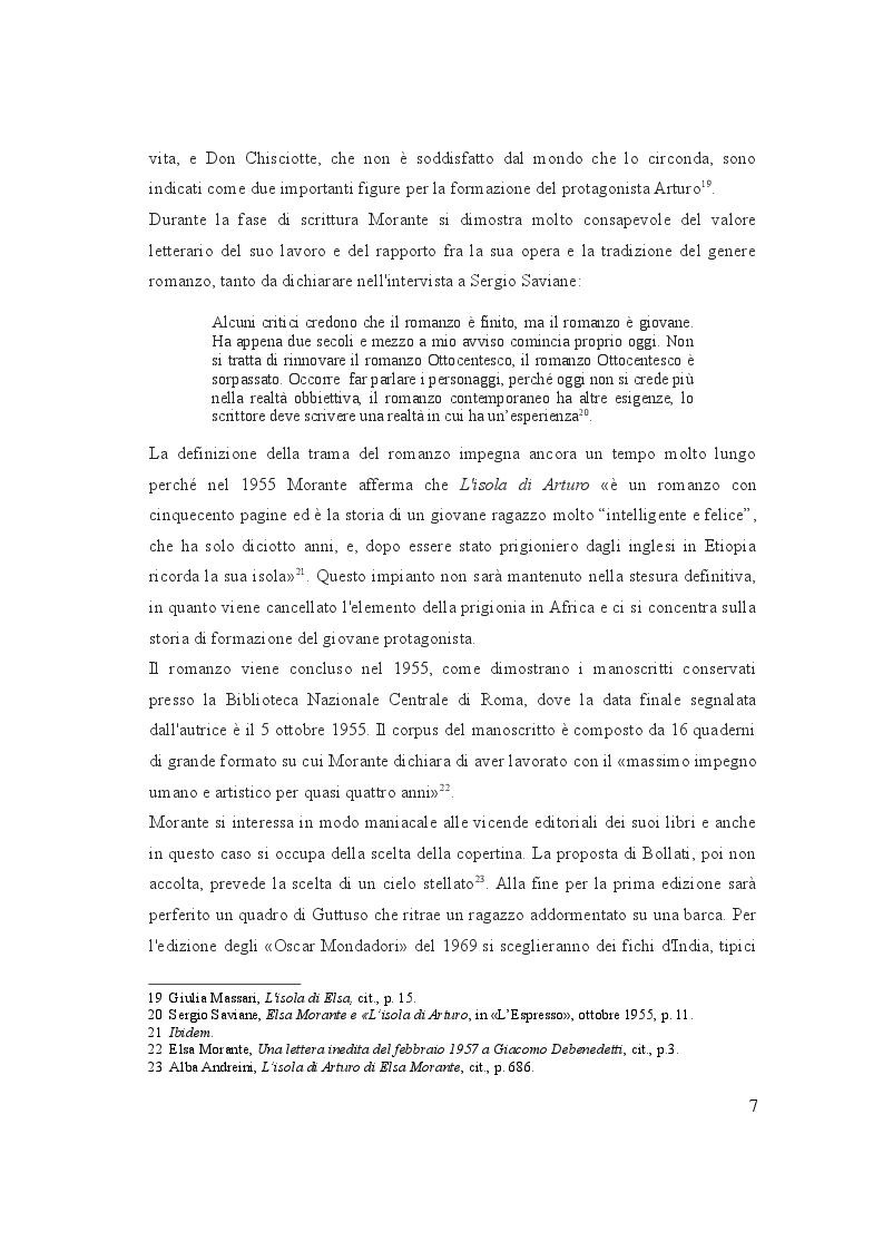 """Estratto dalla tesi: Analisi dell'opera :   """"L'isola di  Arturo"""""""
