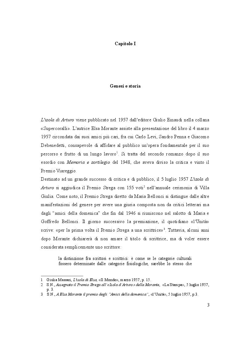 """Anteprima della tesi: Analisi dell'opera :   """"L'isola di  Arturo"""", Pagina 4"""