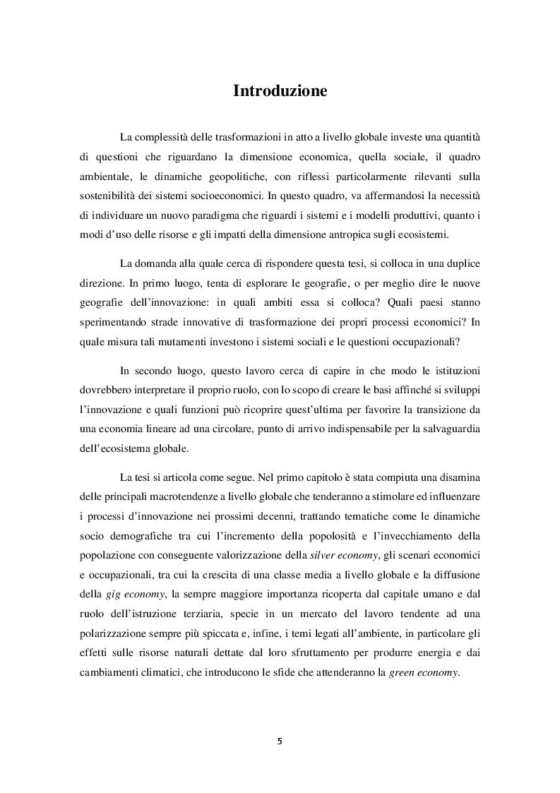 Anteprima della tesi: Nuove geografie dell'innovazione: quali ruoli per l'economia circolare?, Pagina 2