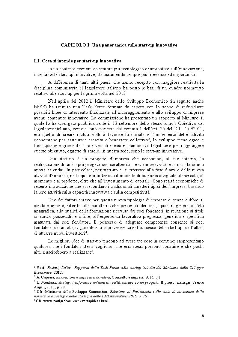 Anteprima della tesi: Le start-up e gli incubatori di impresa: due modelli per favorire l'imprenditorialità, Pagina 4