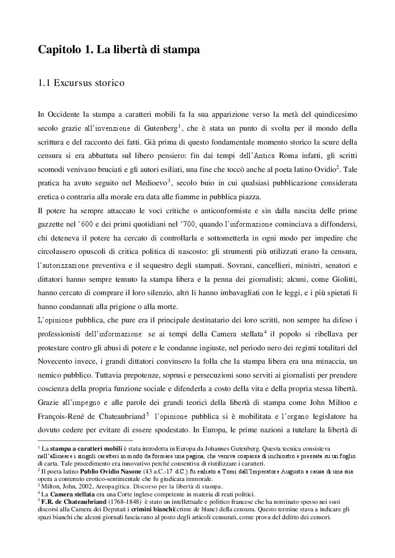 Anteprima della tesi: La libertà di stampa in America Latina: i media venezuelani tra censura e resistenza , Pagina 4