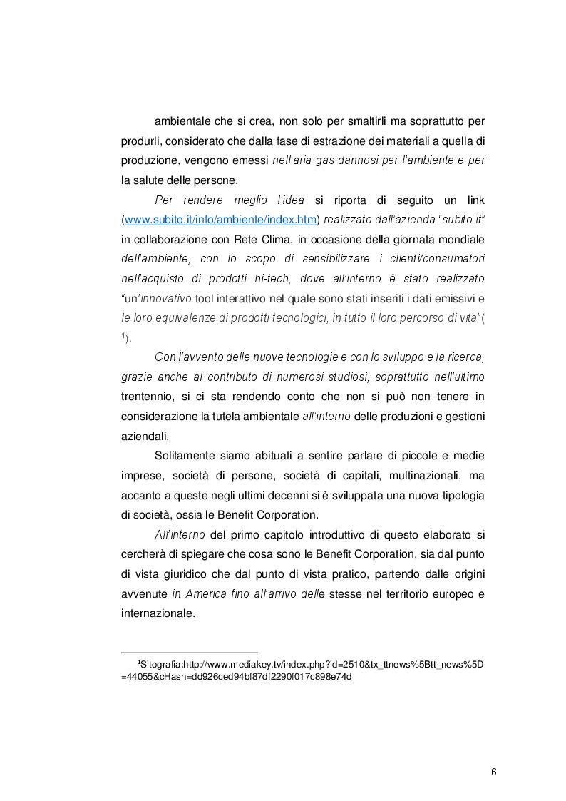 Anteprima della tesi: Le Benefit Corporation: applicazione della certificazione B Corp come strumento per veicolare lo sviluppo sostenibile, Pagina 3