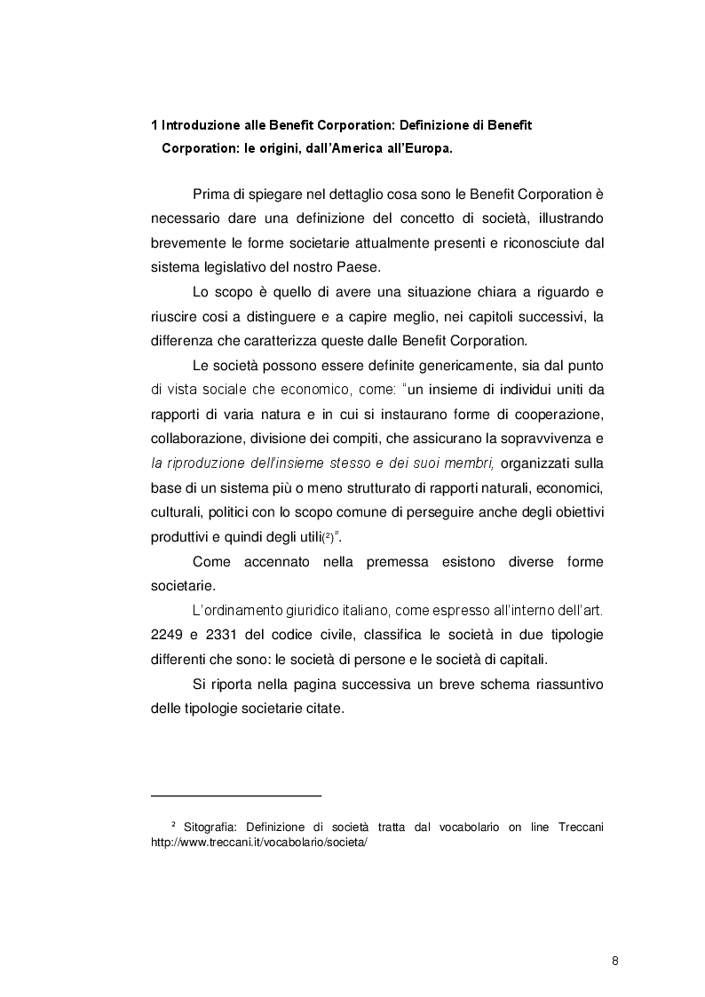 Anteprima della tesi: Le Benefit Corporation: applicazione della certificazione B Corp come strumento per veicolare lo sviluppo sostenibile, Pagina 5