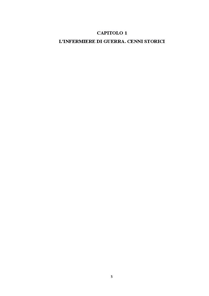 Anteprima della tesi: L'infermiere militare in prima linea nelle missioni del nuovo millennio. Soccorso immediato ed assistenza specialistica ad un paziente con paraplegia post traumatica., Pagina 4