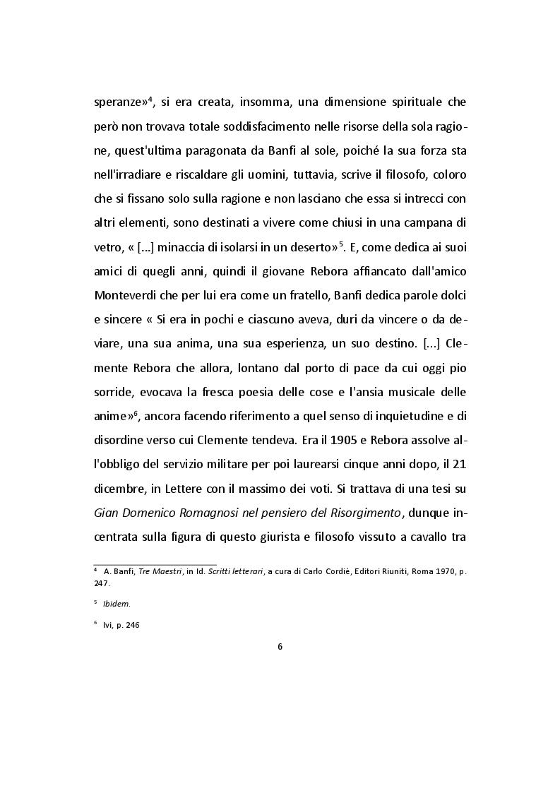 Anteprima della tesi: Analisi dei Frammenti lirici di Clemente Rebora, Pagina 6