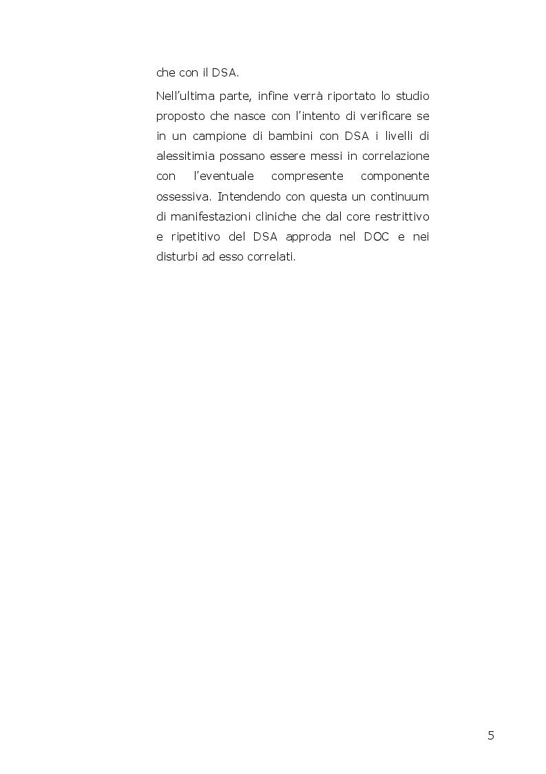 Anteprima della tesi: I disturbi dello spettro autistico: l'influenza della componente alessitimica nella determinazione dell'ossessività, Pagina 3