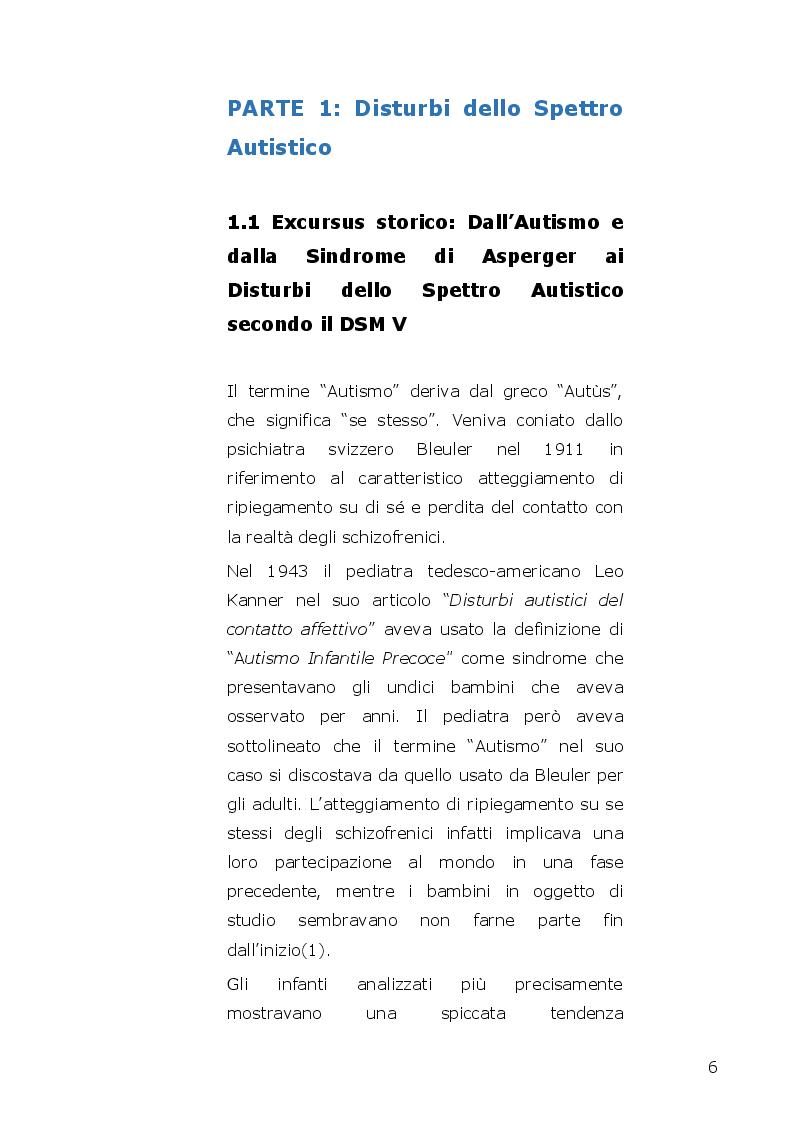 Anteprima della tesi: I disturbi dello spettro autistico: l'influenza della componente alessitimica nella determinazione dell'ossessività, Pagina 4