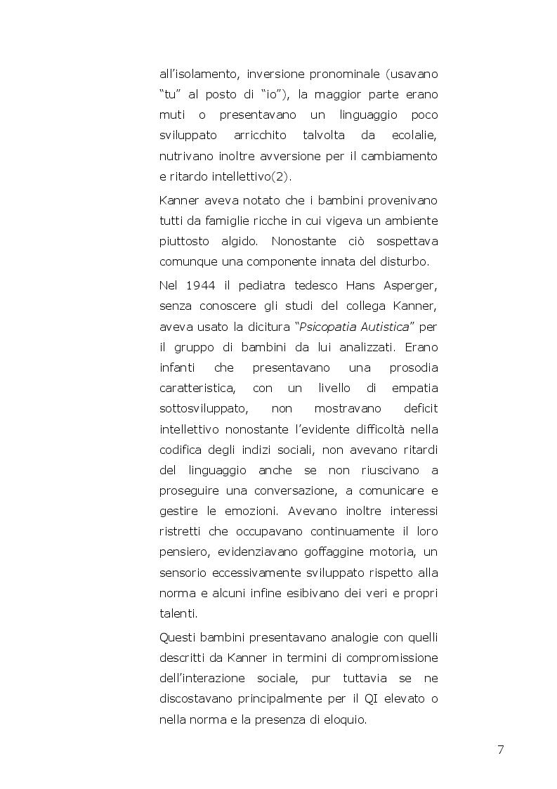 Anteprima della tesi: I disturbi dello spettro autistico: l'influenza della componente alessitimica nella determinazione dell'ossessività, Pagina 5