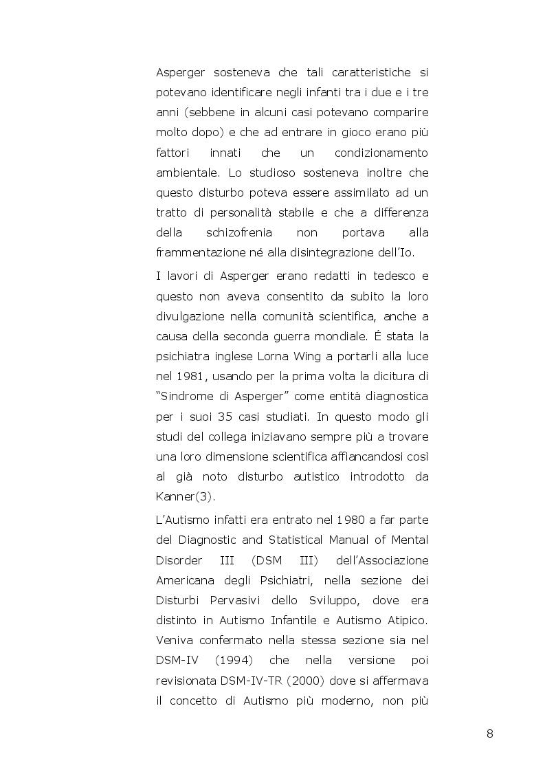 Anteprima della tesi: I disturbi dello spettro autistico: l'influenza della componente alessitimica nella determinazione dell'ossessività, Pagina 6