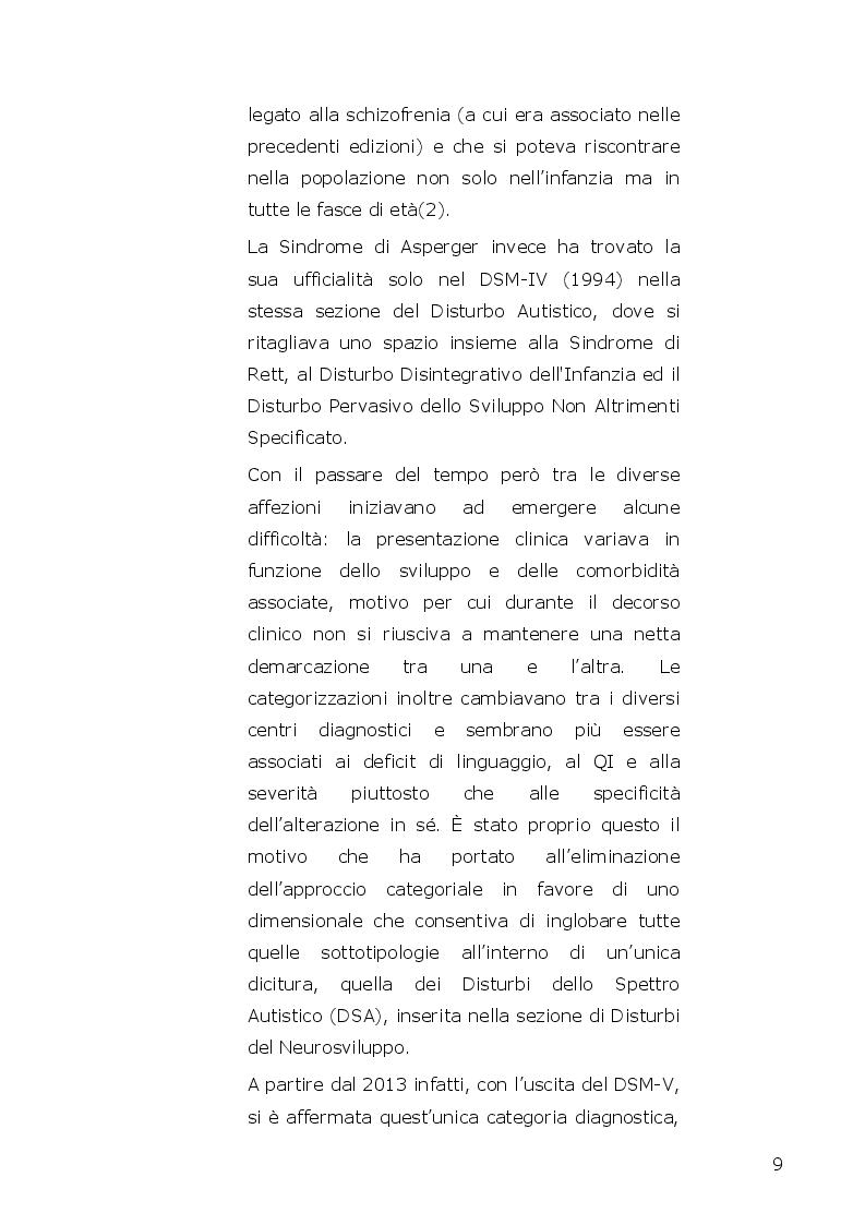Anteprima della tesi: I disturbi dello spettro autistico: l'influenza della componente alessitimica nella determinazione dell'ossessività, Pagina 7