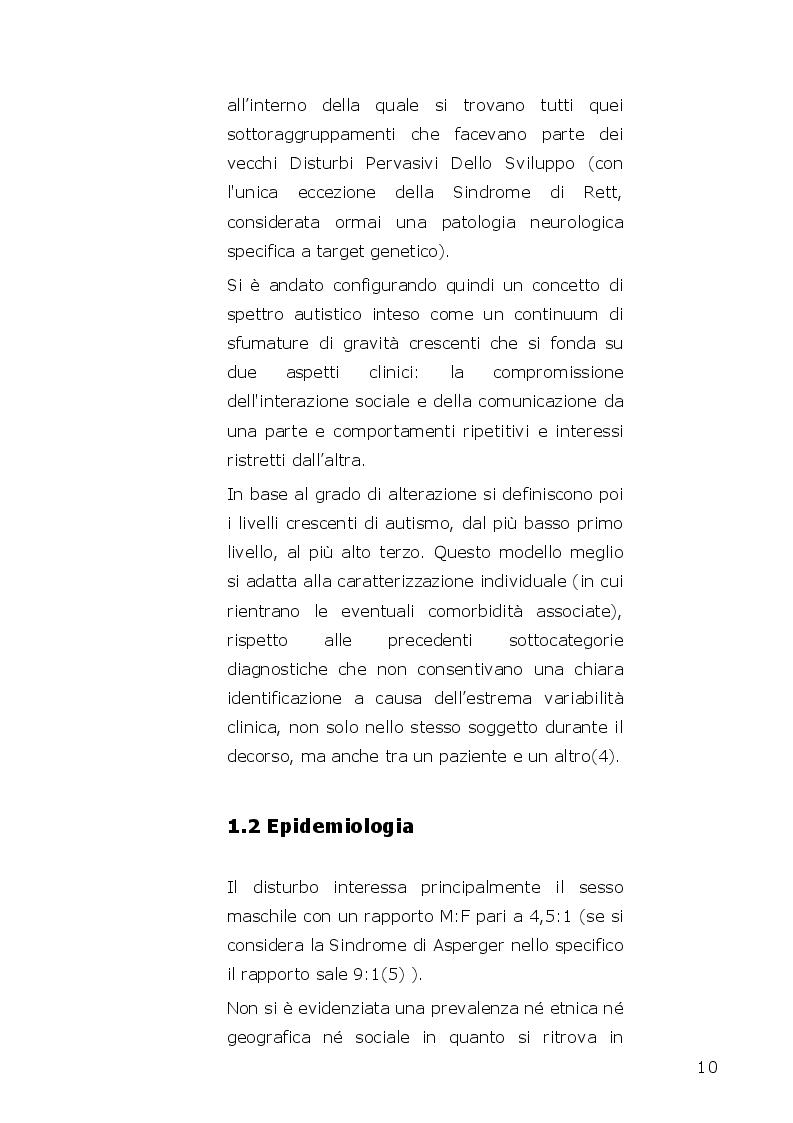 Anteprima della tesi: I disturbi dello spettro autistico: l'influenza della componente alessitimica nella determinazione dell'ossessività, Pagina 8